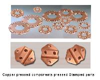 Copper pressed parts,  stamped parts, Copper stamped components, Brass sheet metal parts, Brass Stamped parts, Copper pressed components