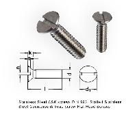 Stainless Steel CSK screws DIN 963  Slotted Stainless Steel Countersunk head screw