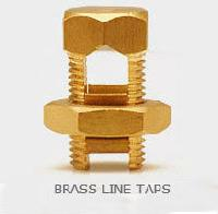 Brass Line Taps Tin plated Line taps